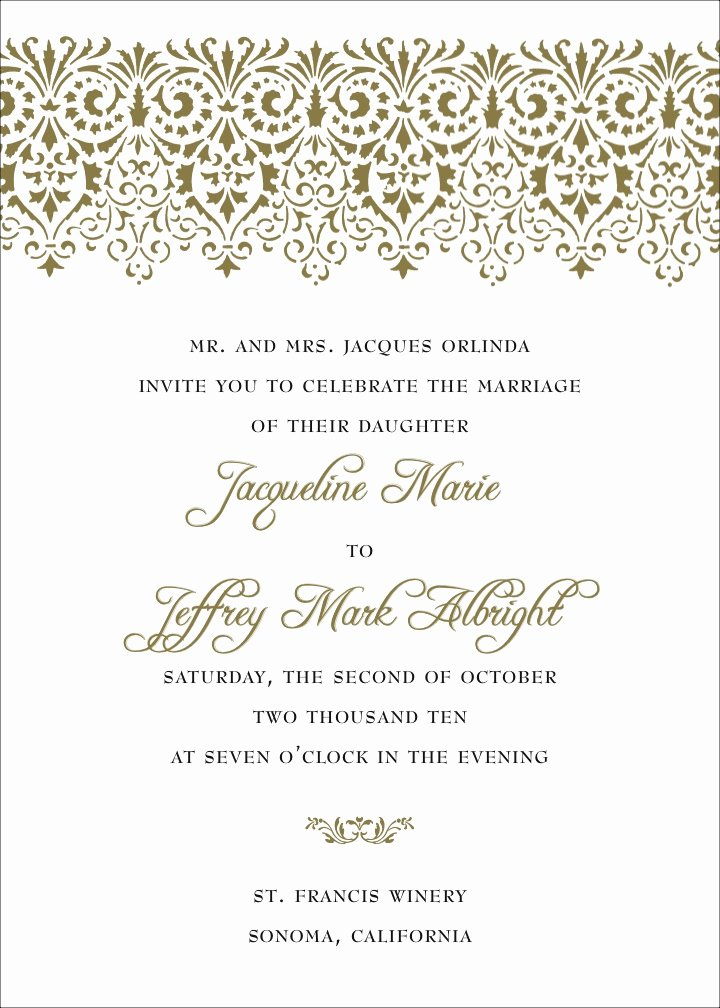 Non Traditional Wedding Invitation Wording Template