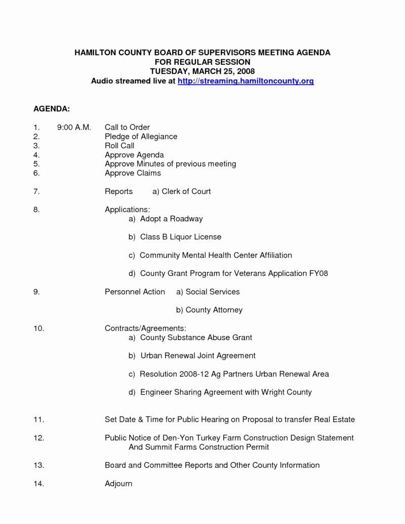 Nonprofit Board Meeting Agenda Template Beepmunk