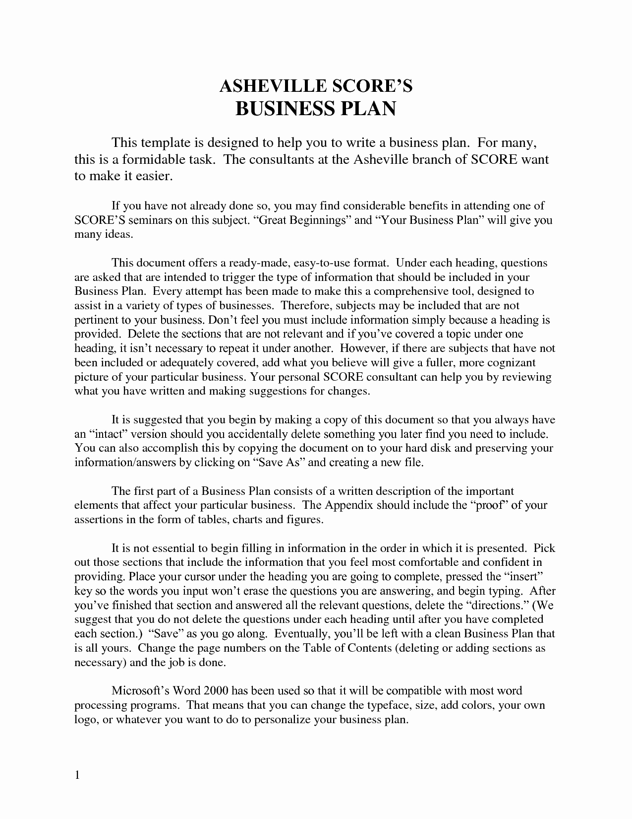Nonprofit Business Plan Template Oursearchworld