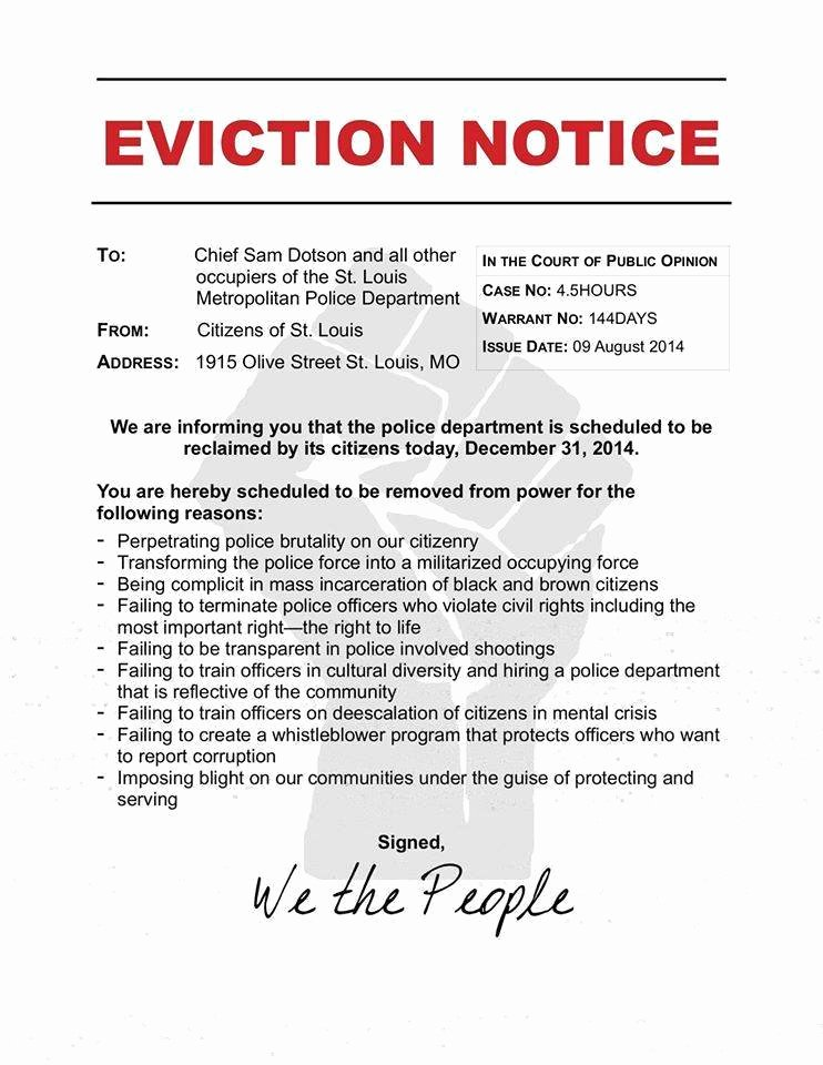 Notice Eviction