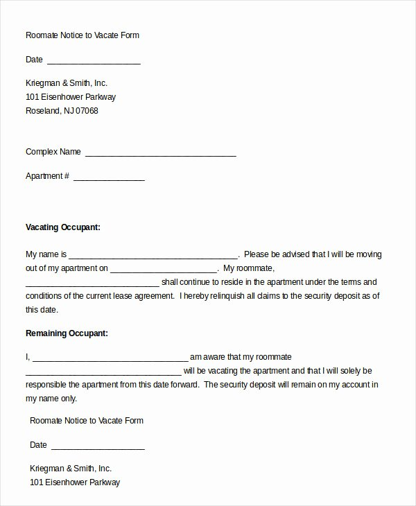 Notice to Vacate form 9 Free Word Pdf Documents