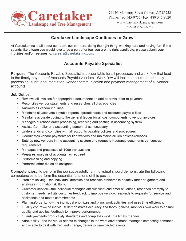 Now Hiring – Accounts Payable Specialist