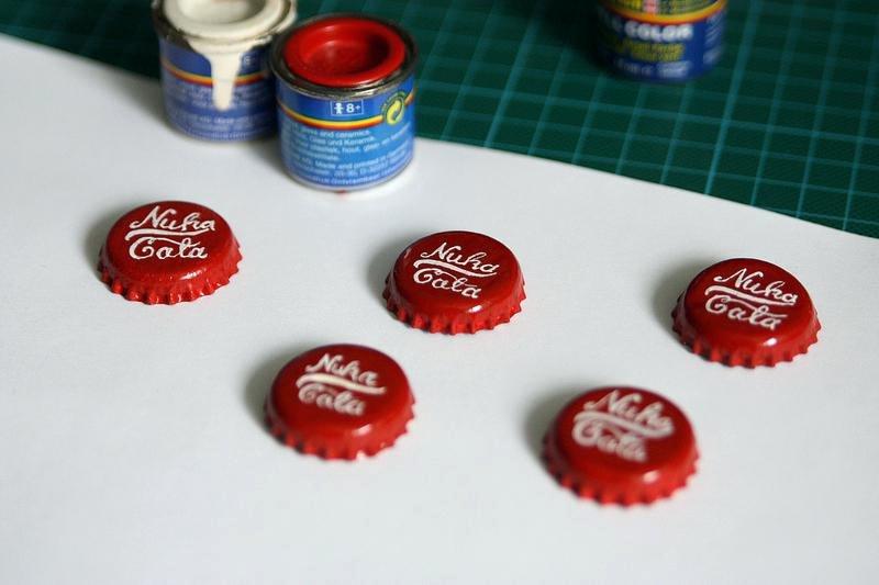 Nuka Cola Bottle Label Cola Relabelled for Nuka Cola