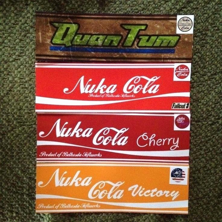 Nuka Cola Bottle Label Fallout Cola Baby Nuka Cola Quantum