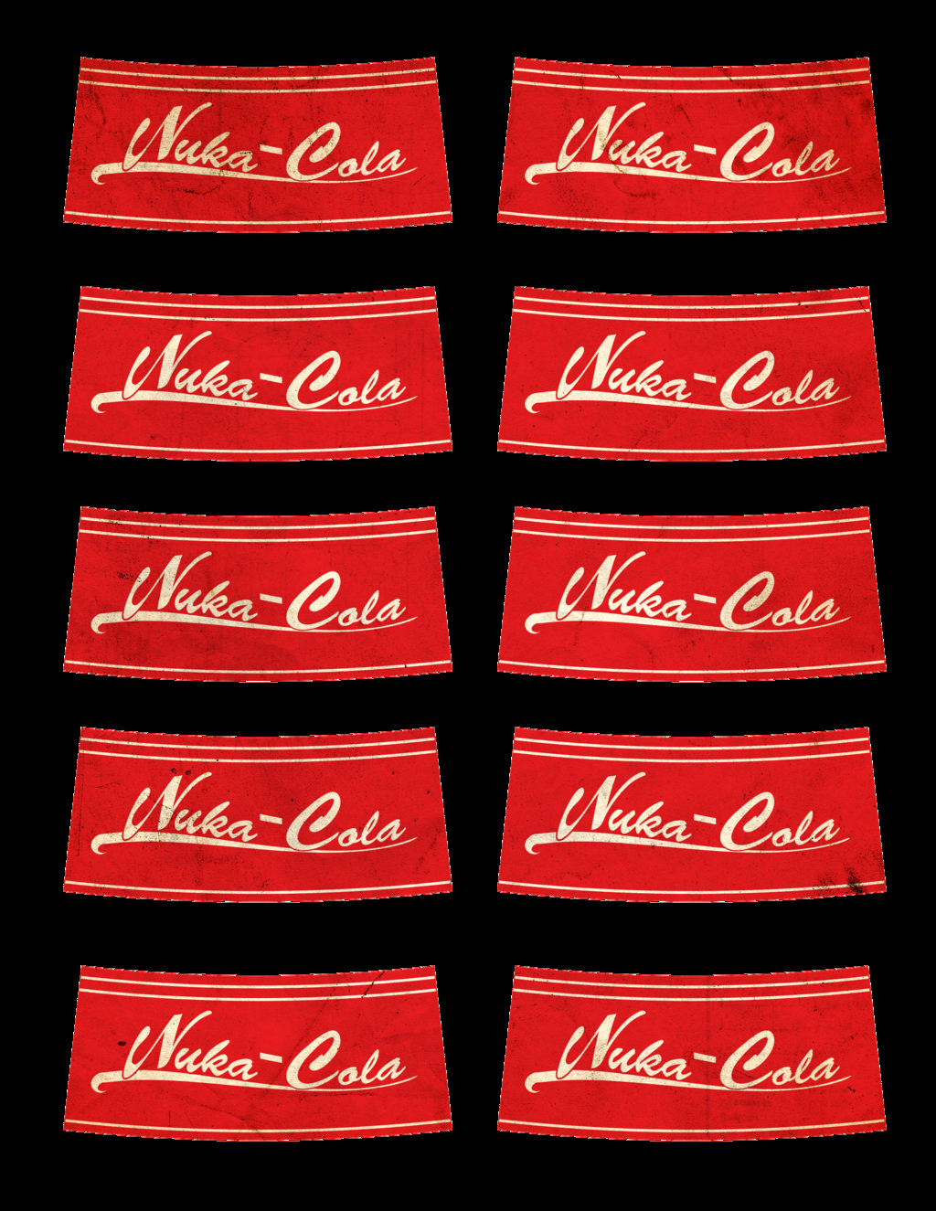 picture relating to Nuka Cola Printable Labels identified as Nuka Cola Labels by way of Strongcactus Upon Deviantart Latter