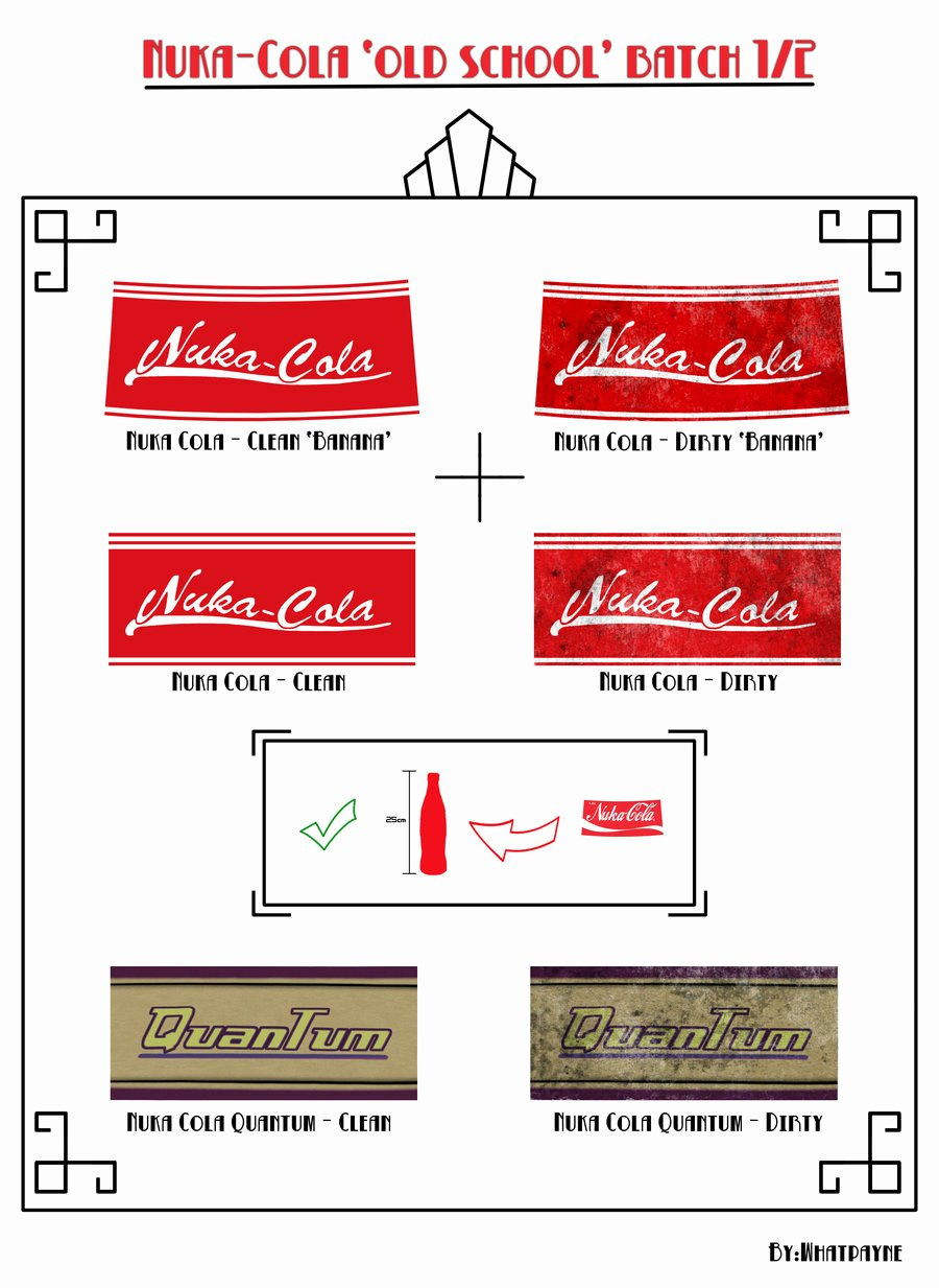 Nuka Cola Old School Batch Pt1 by Whatpayne On Deviantart