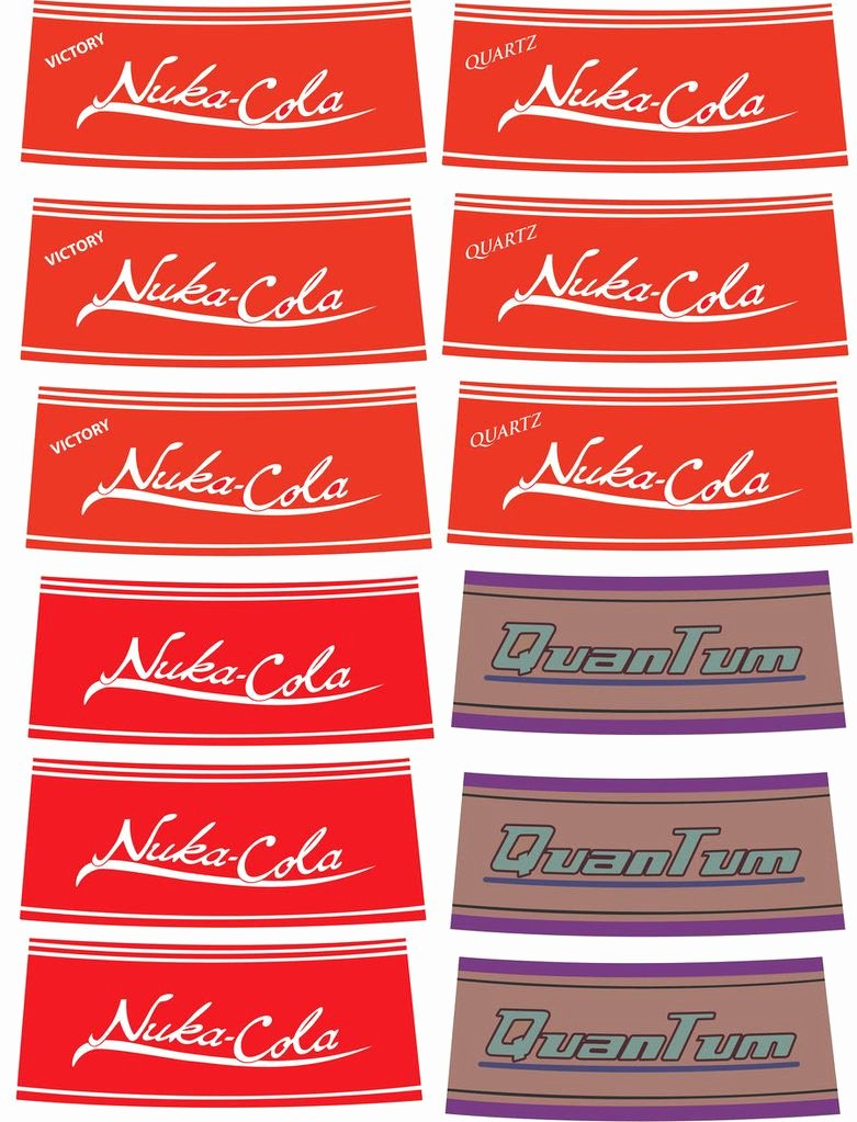 Nuka Cola Quartz Victory and Quantum Labels by Falloutfood