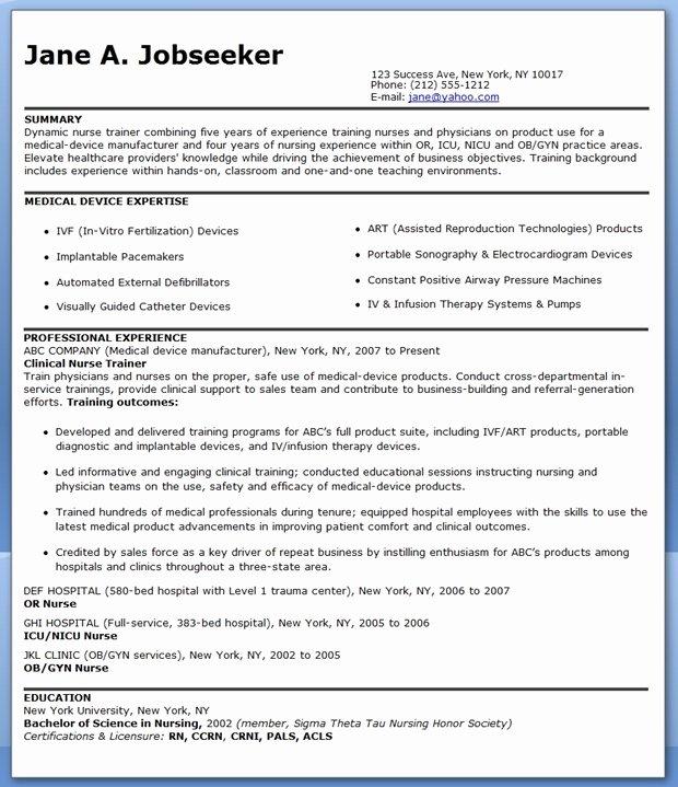 Nurse Educator Resume Talktomartyb