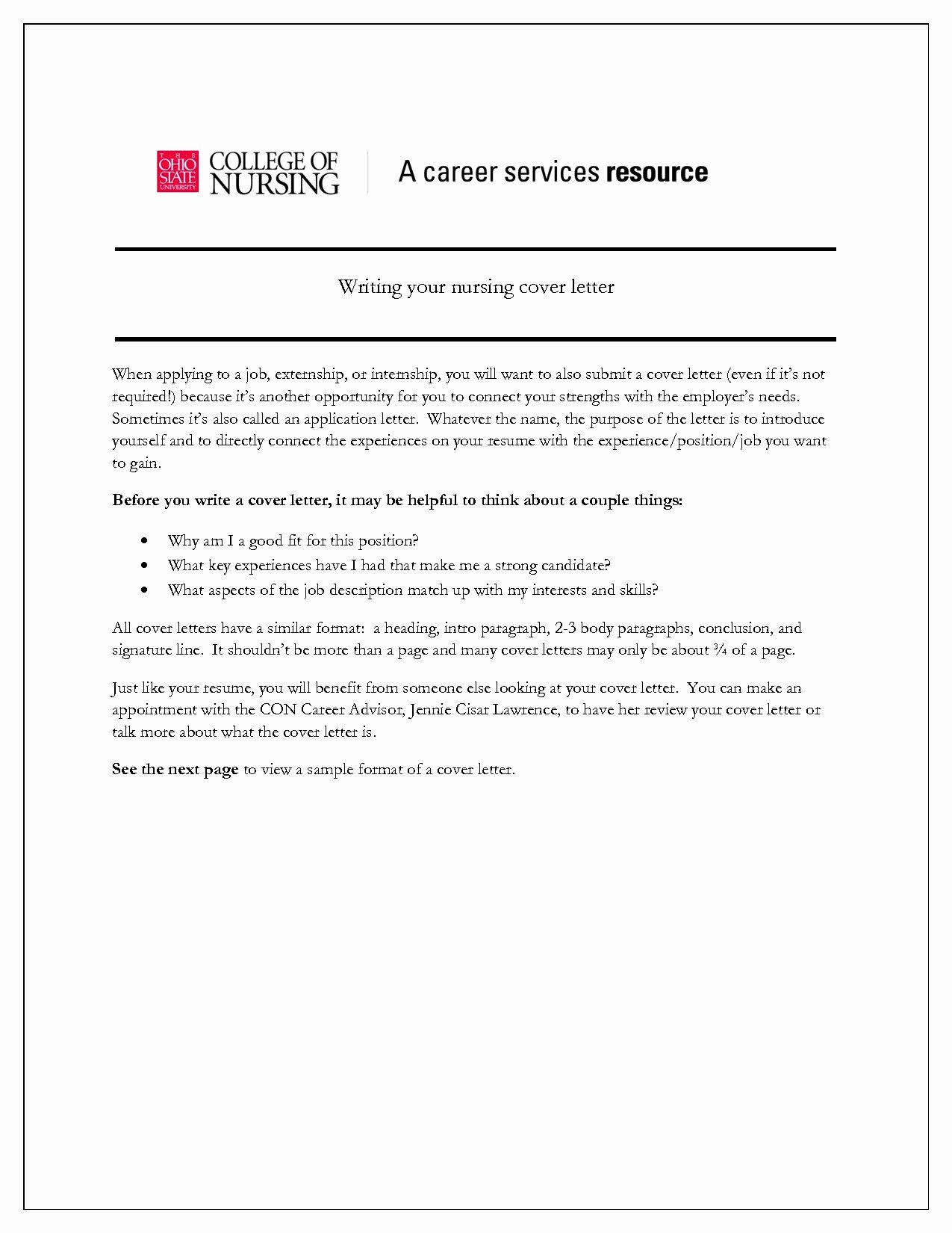 Nurse Externship Cover Letter Cover Letter Cover Letter