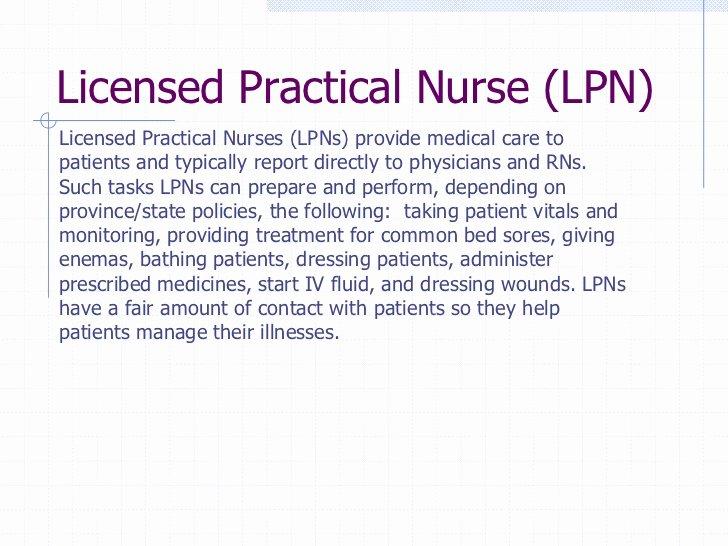 Nurse Job Description