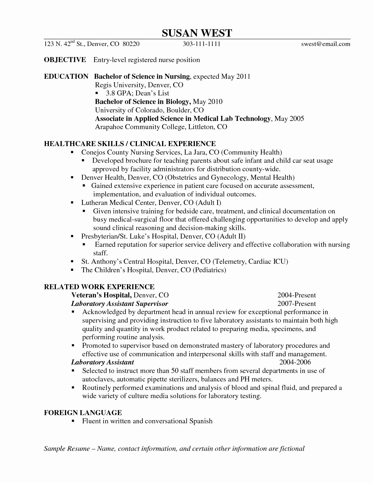 Nurse Objectives for Resumes Page 21 Best Example Resumes