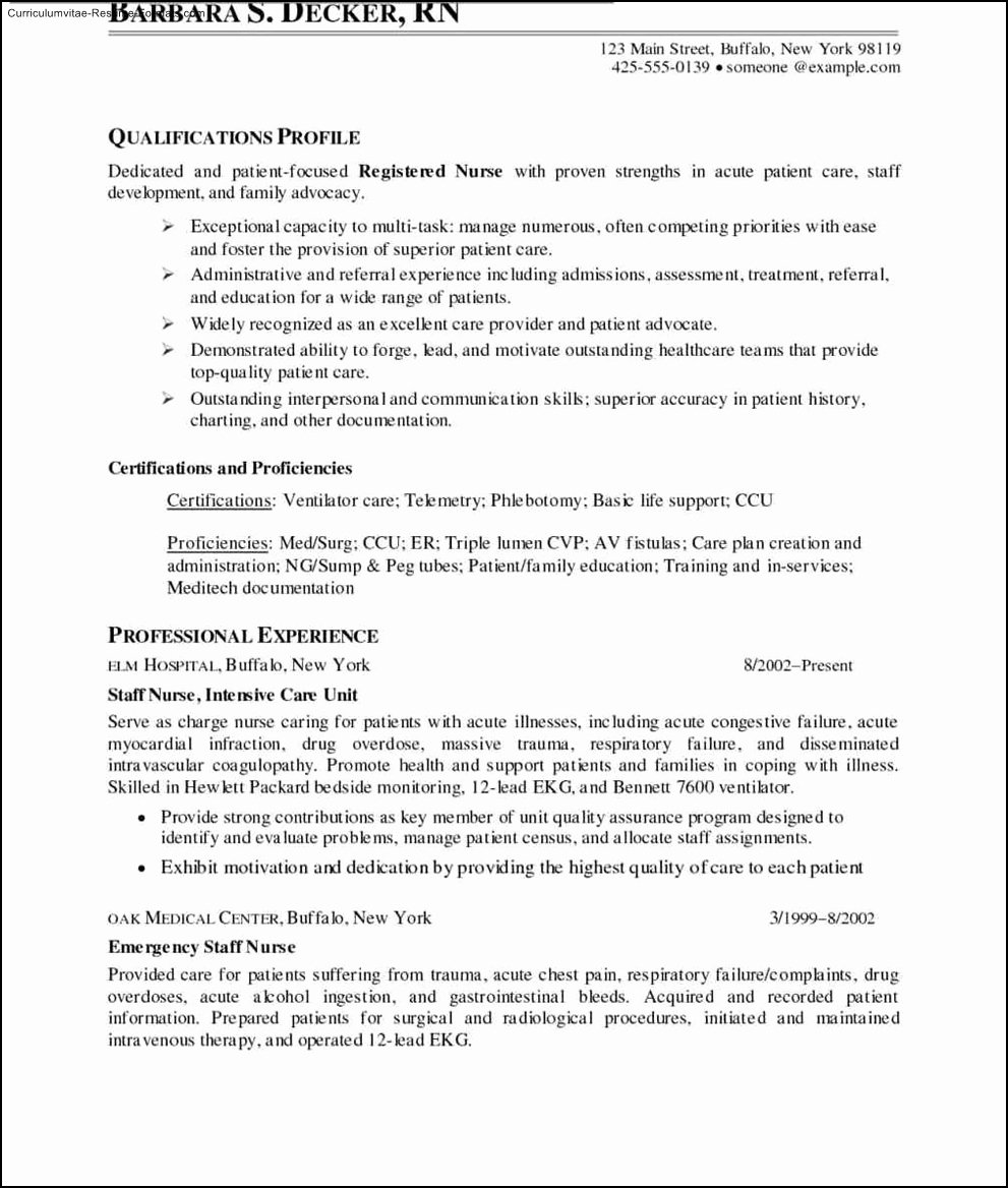 Nurse Resume Templates Free Free Samples Examples