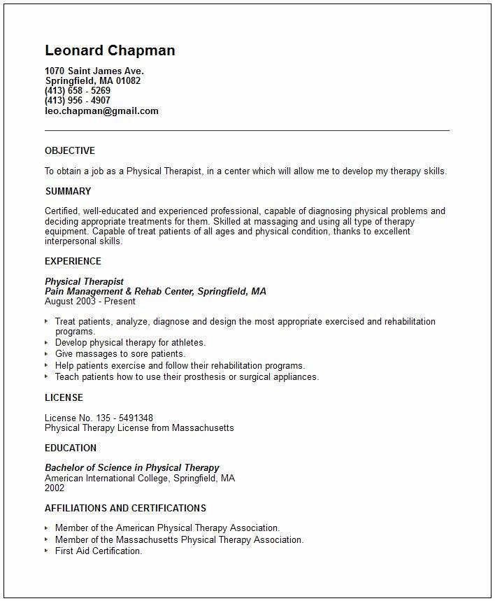 Nursing & Medical Resume Examples