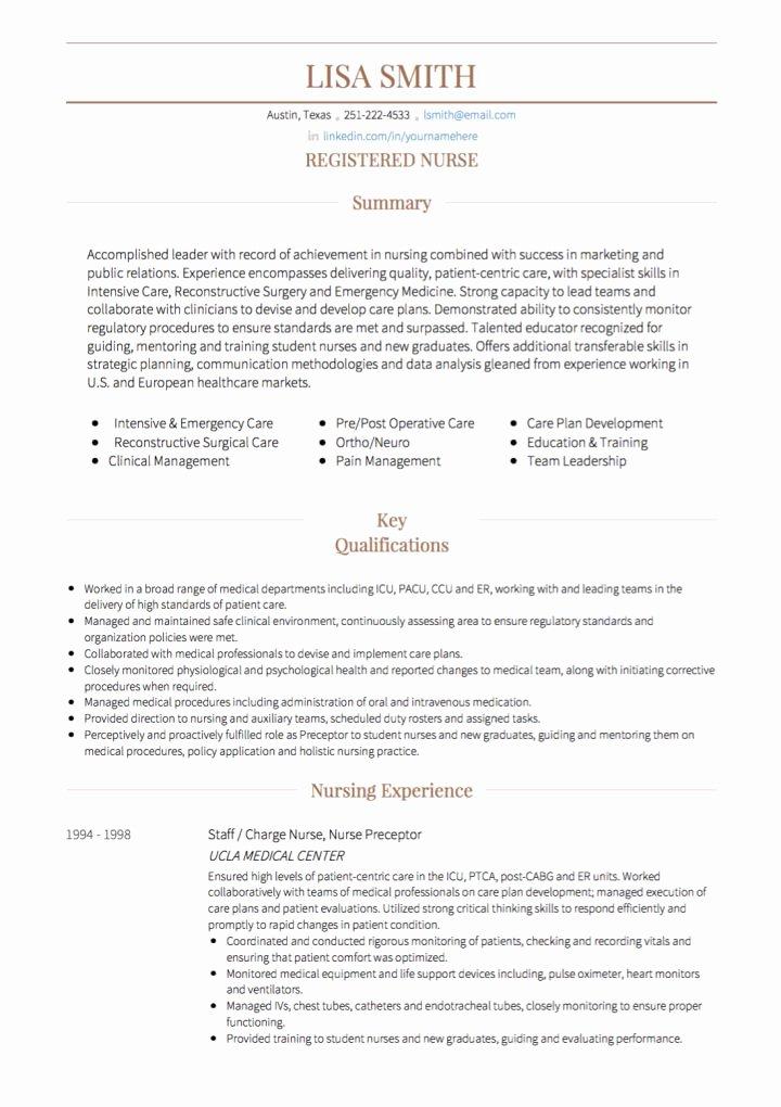 Nursing Cv Examples & Templates