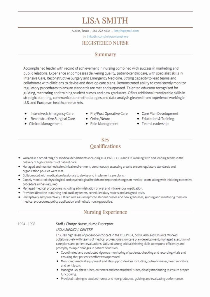 Nursing Cv Examples and Template
