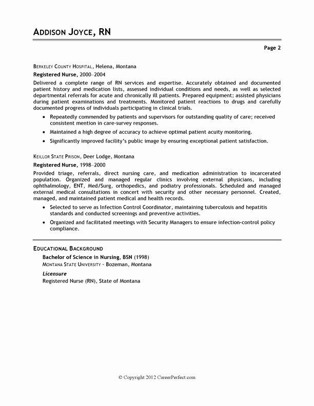 Nursing Job Resume Sample Best Resume Gallery
