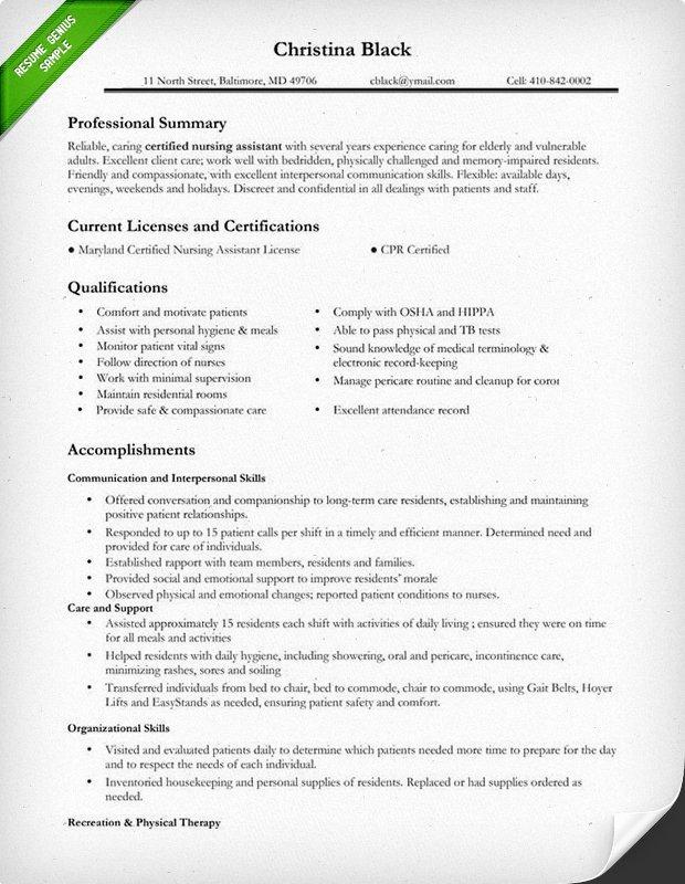 Nursing Resume Sample & Writing Guide