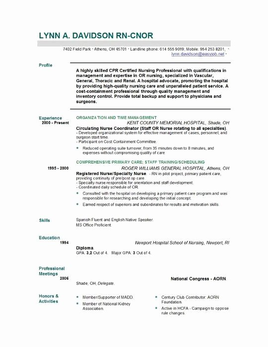 Nursing Student Resume Example Best Resume Collection