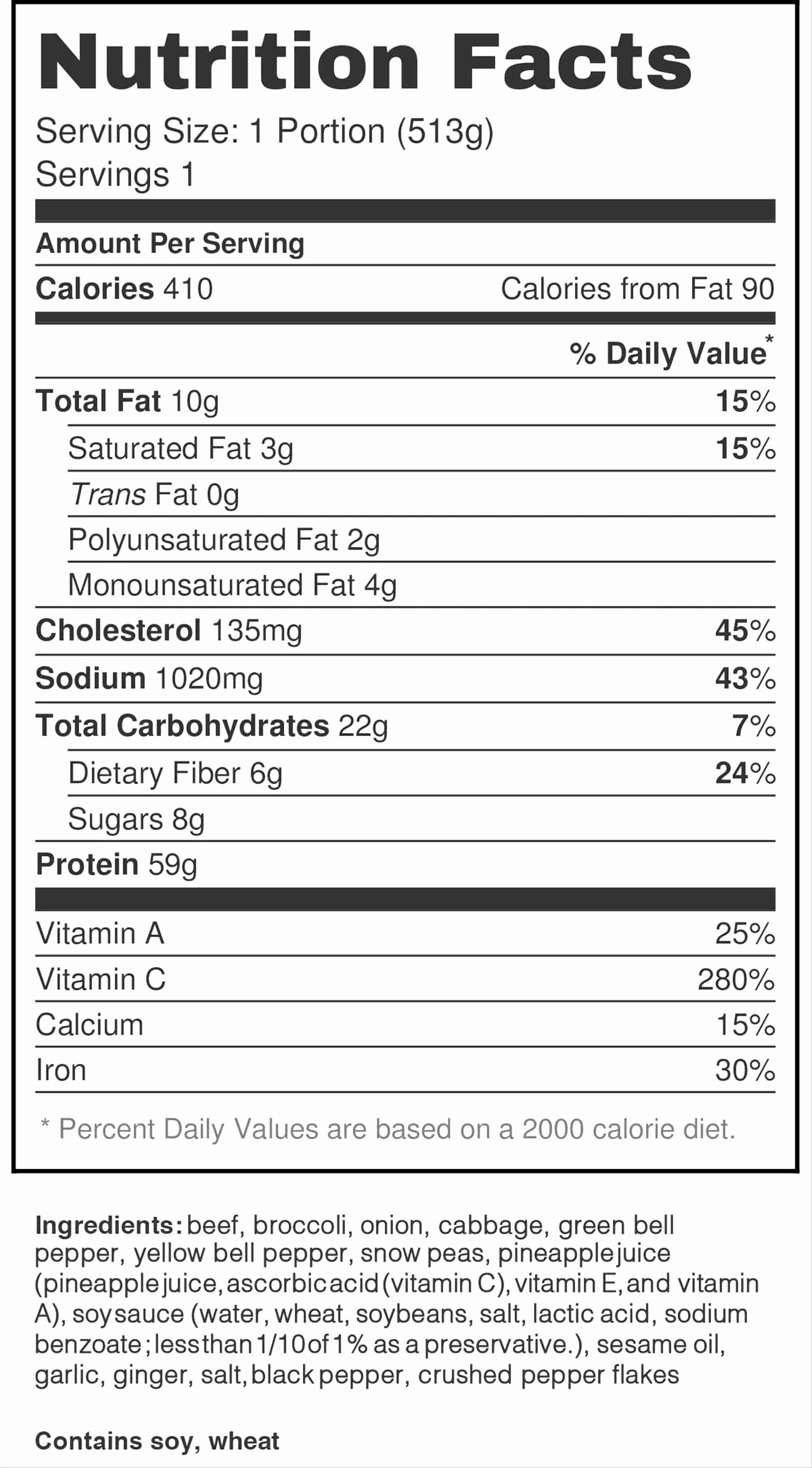 Nutrition Label Template Excel Hola Klonec