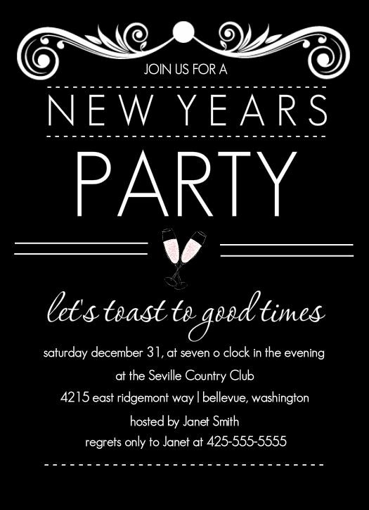 Nye Party Invitation by Purpletrail New Years Eve