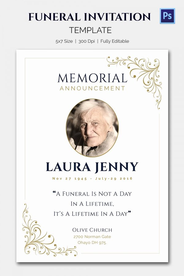 Obit Word Psd format Download Free Premiu with Funeral