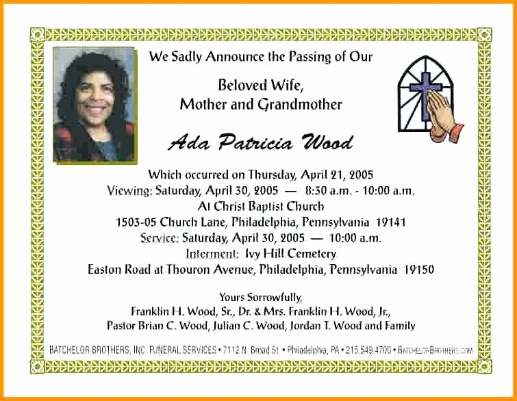 Obituary Card Template Ideas for Funeral Service Cards