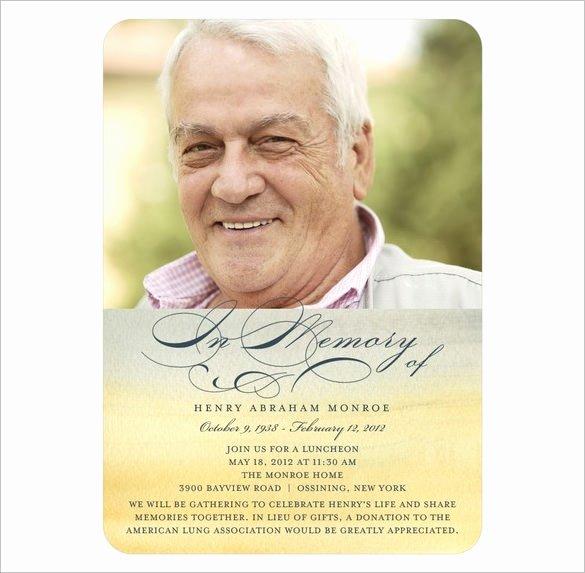 Obituary Cards Sample