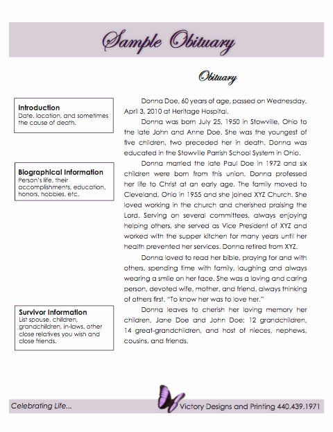 Obituary Template 21 Free Blank Obituary Templates Word