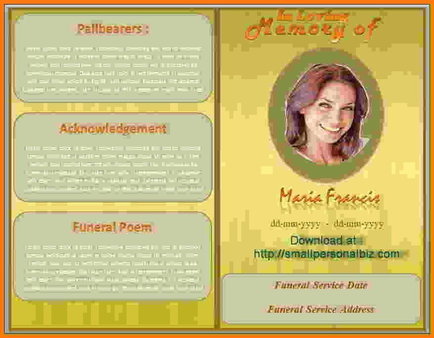 Obituary Template Microsoft Publisher to Pin On