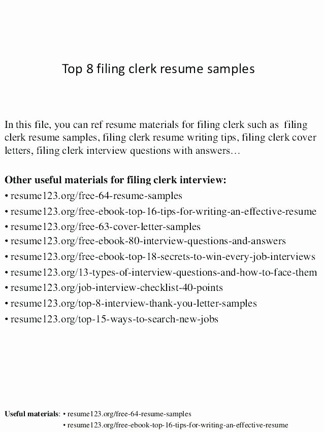 Objective for Clerical Resume Clerical Sample Resume
