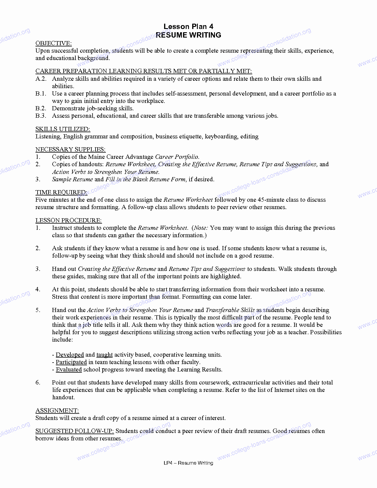 Objective for College Student Resume Resume Ideas