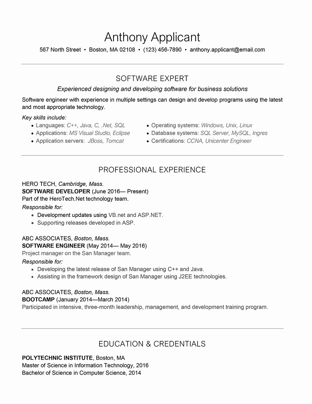 Objective for Java Developer Resume