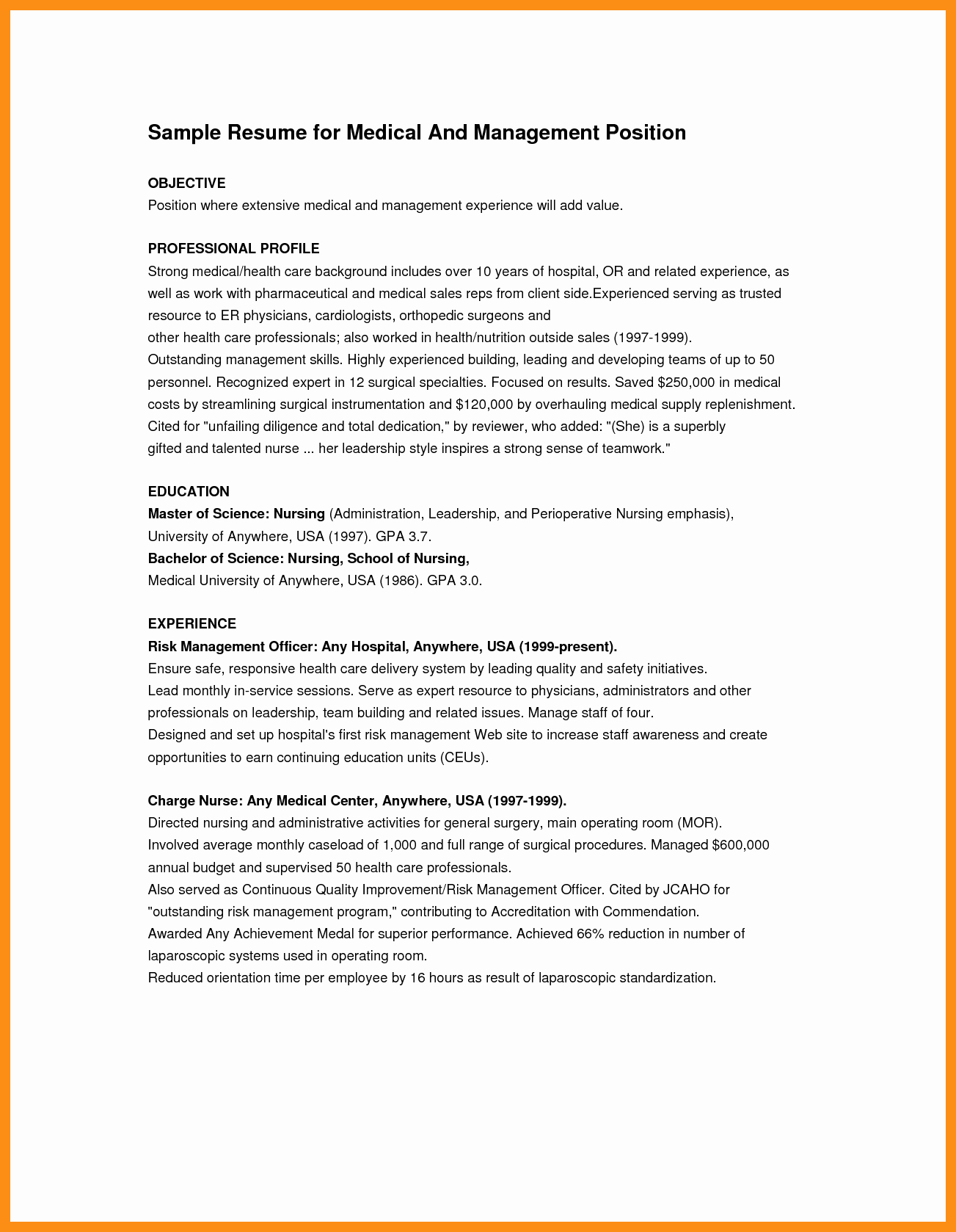 Objective for Resume First Job