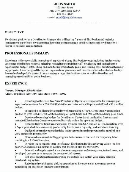 Objective for Resume for Any Job – Businessdegreeonline