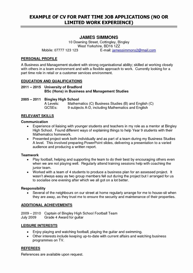 Objective for Resume for High School Student Image