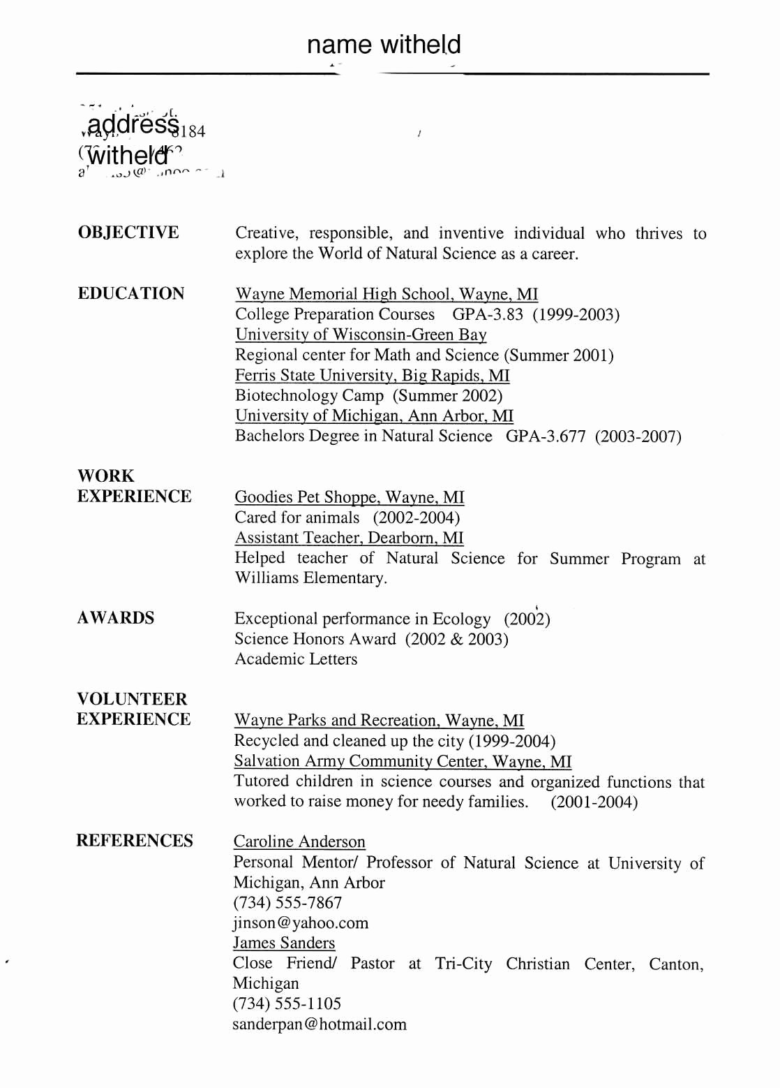 Objective for Resume for High School Student – Perfect