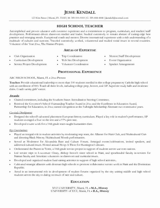 Objective for Resume High School Student Best Resume