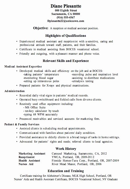 Objective for Resume Medical assistant Best Resume Gallery