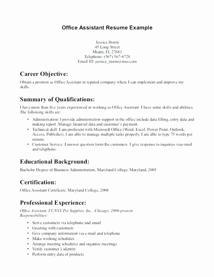 Objective for Resume Medical assistant Template Free