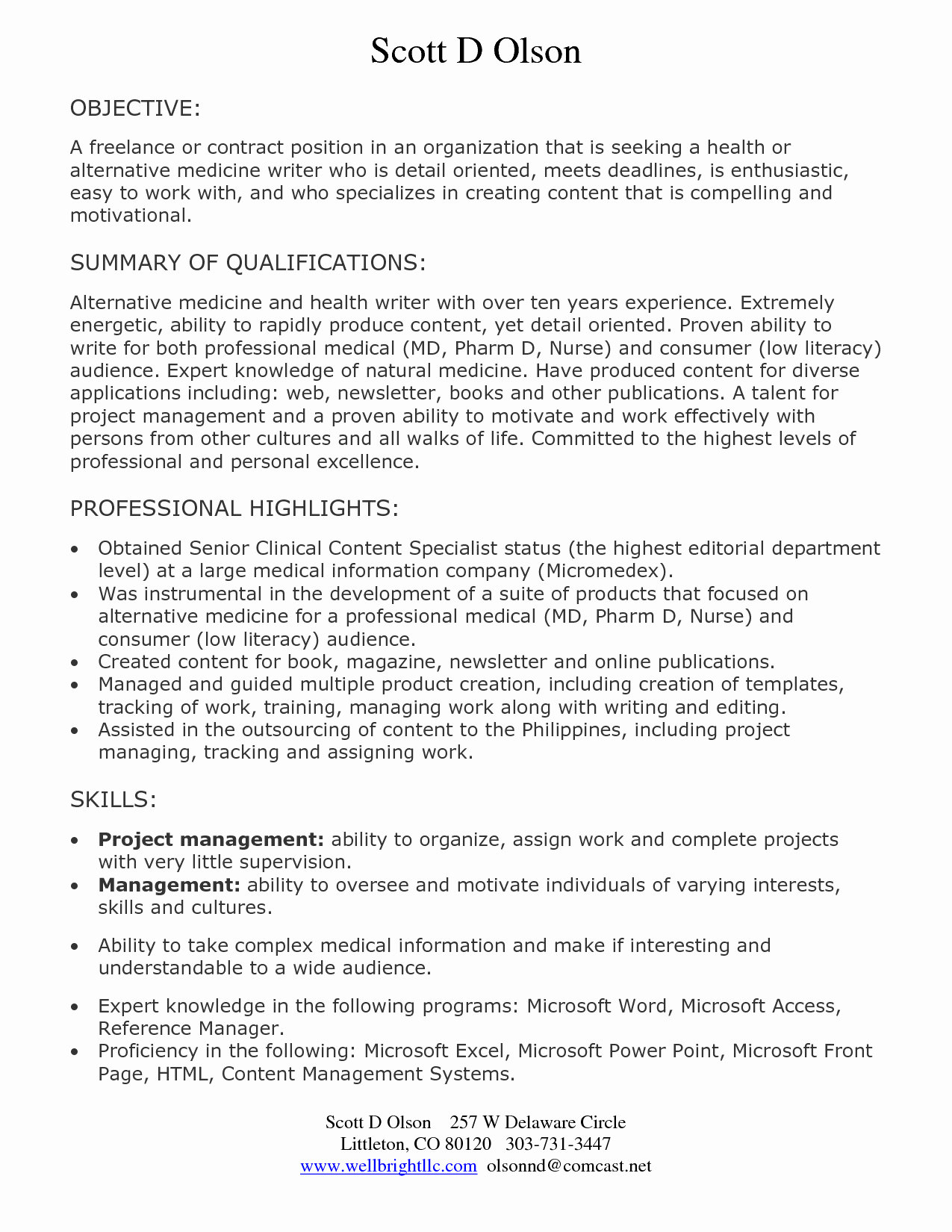 Objective for software Developer Resume