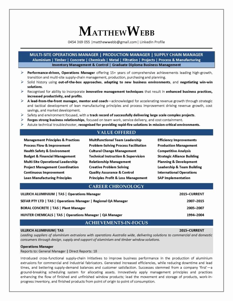 Objective In Resume for Supply Chain Management