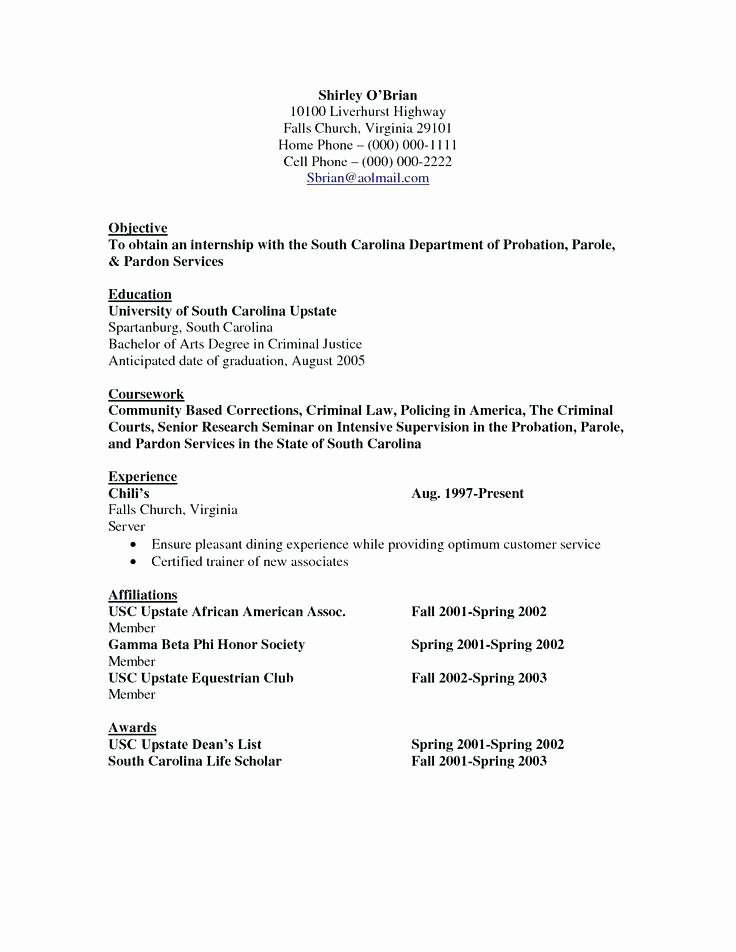 Witoldkwiecinski Criminal Justice Resume Objective Line For Nyustraus Exaple