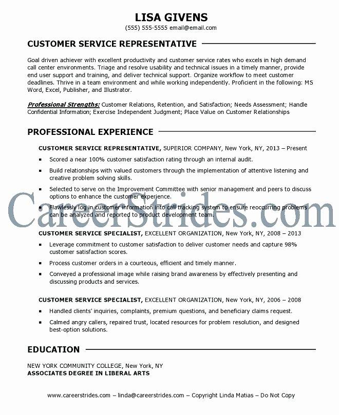Objective Resume Customer Service Resume Ideas