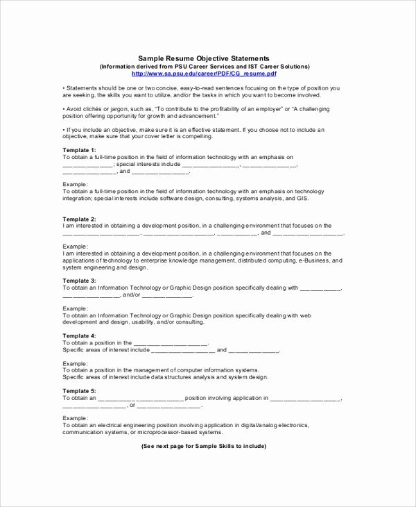 Objective Samples for A Resume Best Resume Gallery