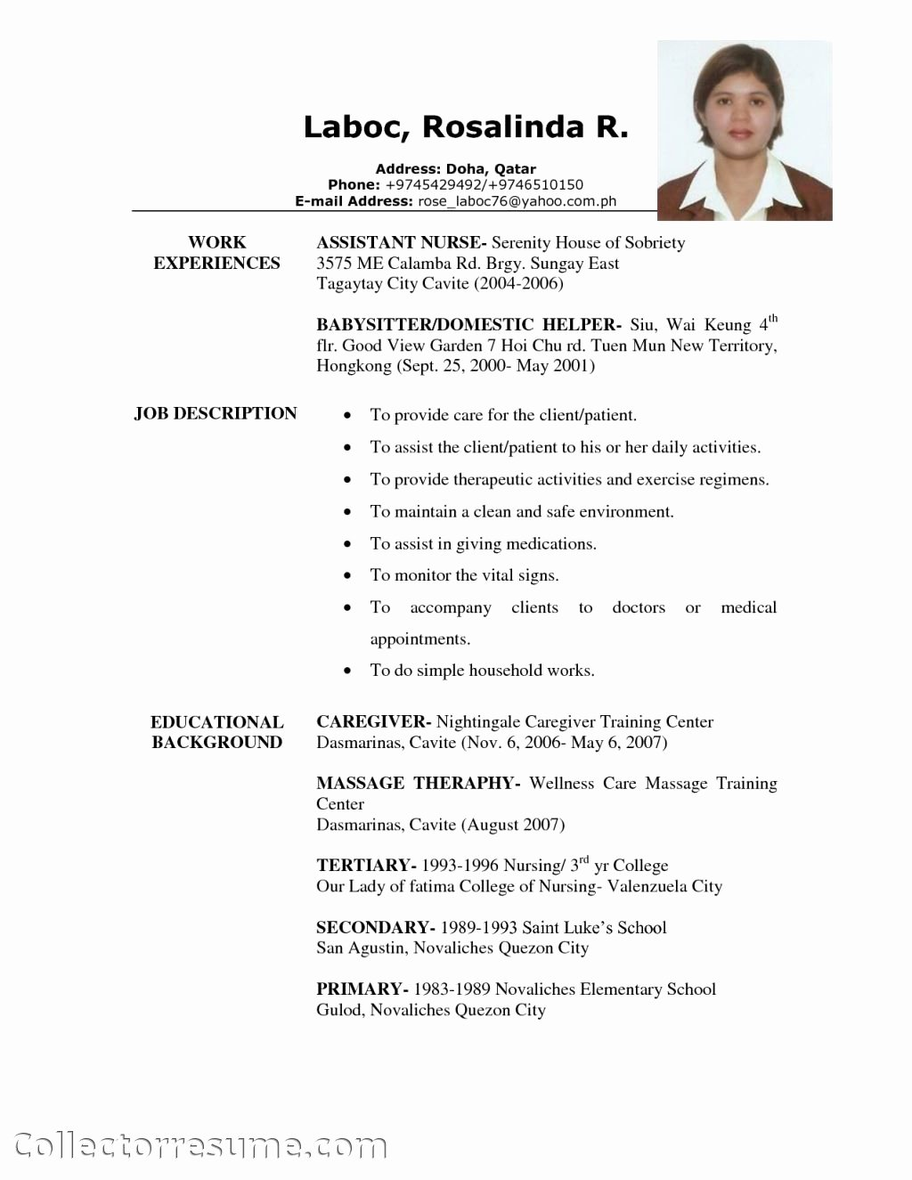 Objectives for Resume for Caregiver – Perfect Resume format