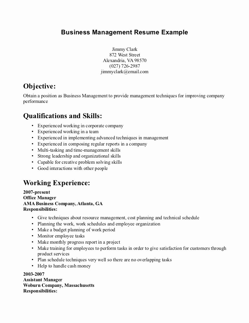 Objectives In Resume to Start A Business – Perfect Resume