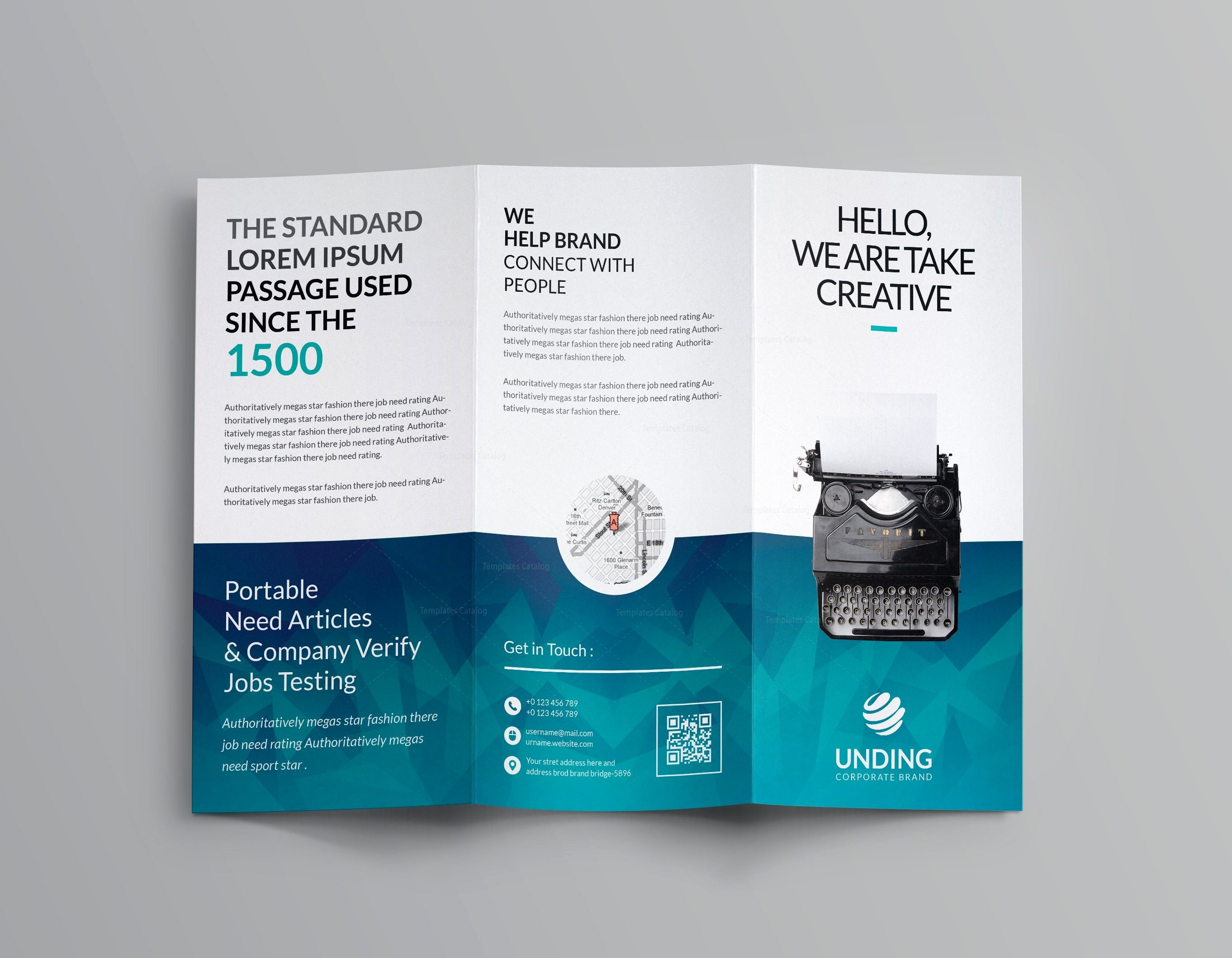 Ocean Corporate Tri Fold Brochure Template