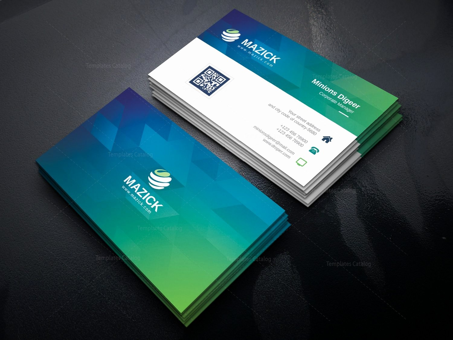 Ocean Professional Corporate Business Card Template