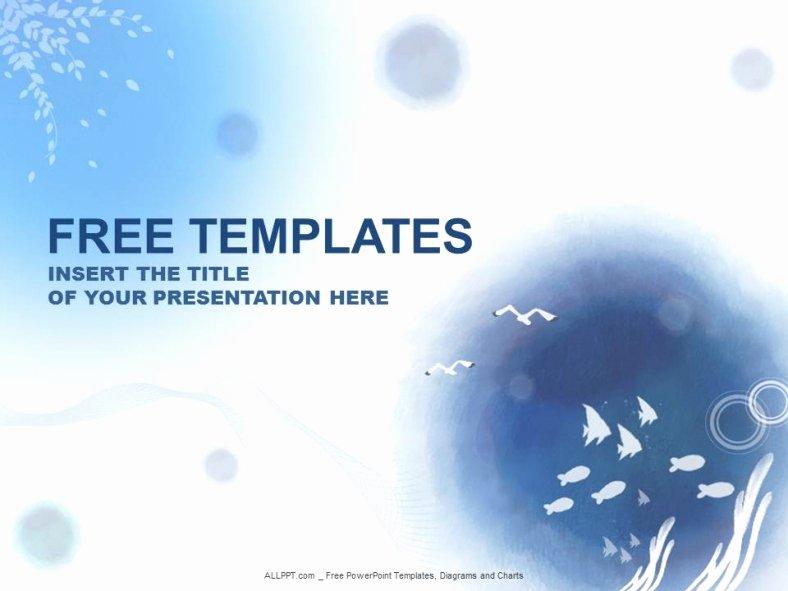 Ocean Water Powerpoint Templates Design Download Free