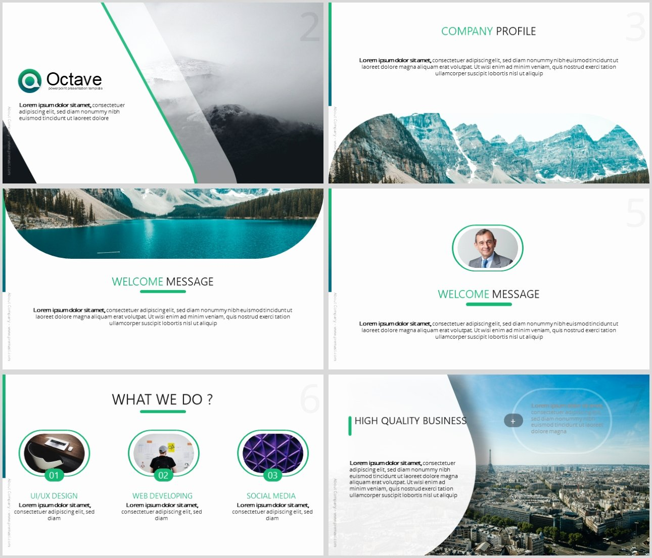 Octave Free Powerpoint Presentation Template Powerpoint